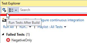 Continuous Testing in Visual Studio | Damir's Corner