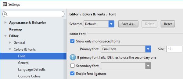 Enabling Font Ligatures in Code Editors   Damir's Corner