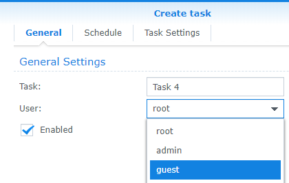 Scheduling a Task on a Synology NAS | Damir's Corner